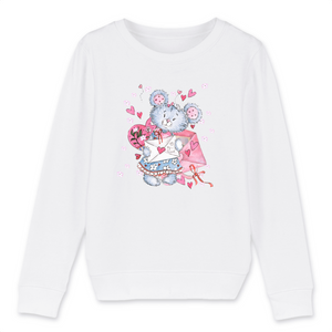 Felpa Kid Organic - Bear Letter - Child Sweat-shirt Mini Changer - Stanley/Stella - DTG - T-Pop - AnimalStories.shop