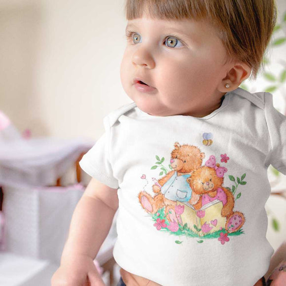 Body biologico per neonato - Bears Kids - Body bébé - BZ10 - DTG - T-Pop - AnimalStories.shop