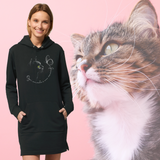 Felpa lunga Organica - My Cat - Hoodie - Streeter - Stanley - DTG - T-Pop - AnimalStories.shop
