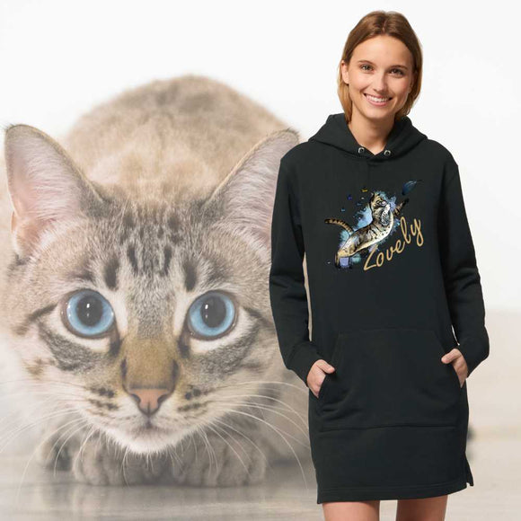 Felpa lunga Organica - Lovely - Hoodie - Streeter - Stanley - DTG - T-Pop - AnimalStories.shop