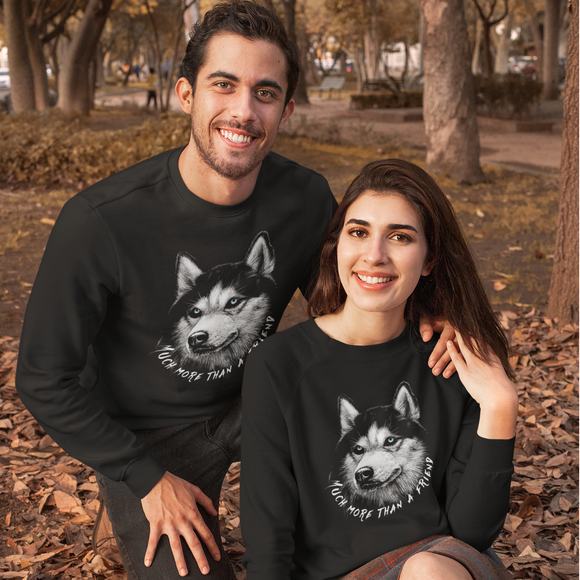 Felpa unisex Organic - Much more than a friend - Sweat-shirt - Rise - Stanley - DTG - T-Pop - AnimalStories.shop