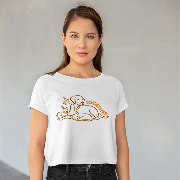 T-Shirt donna Organic - Together - AnimalStories.shop