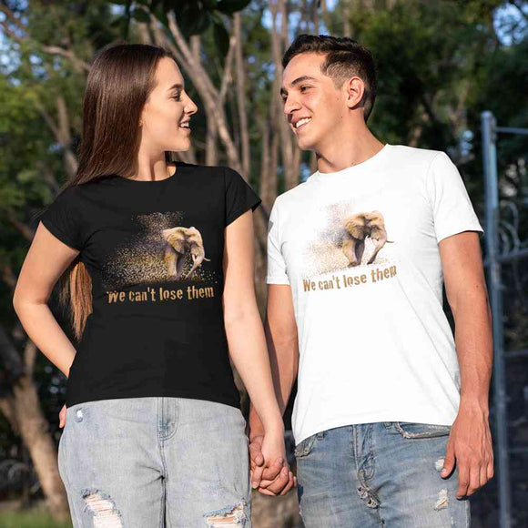 T-Shirt unisex Organic - Elephant - AnimalStories.shop
