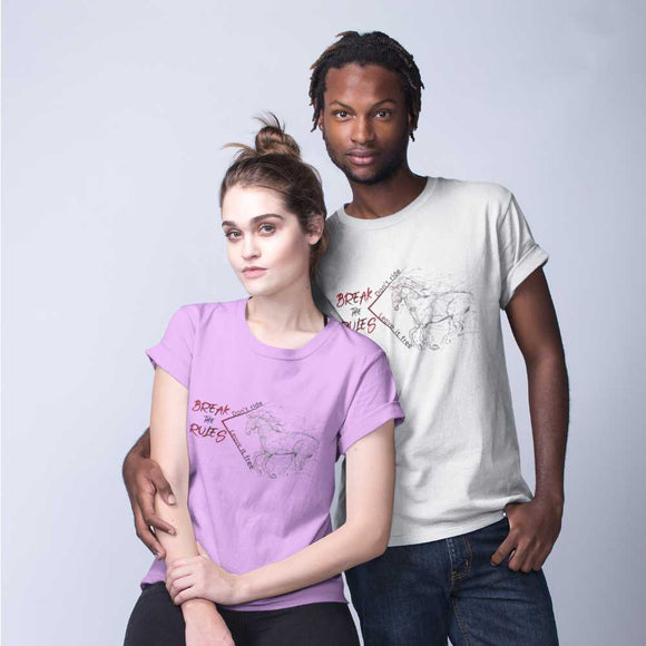 T-Shirt unisex Organic - Break the rules - AnimalStories.shop
