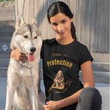 T-Shirt unisex Organic - Under my protection - AnimalStories.shop