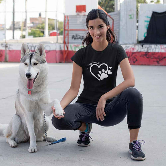 T-Shirt donna Organic - In my heart - AnimalStories.shop