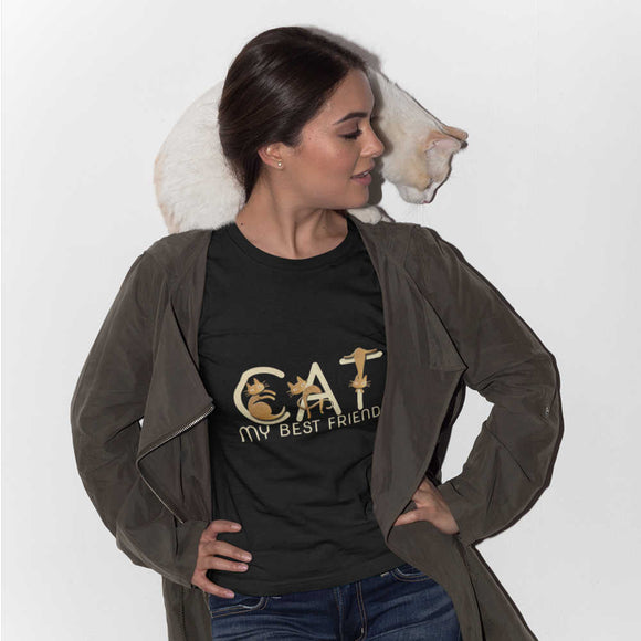 T-Shirt donna Organic - CAT - AnimalStories.shop
