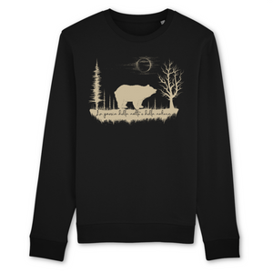Felpa unisex Organic - Poesia della notte - Sweat-shirt - Rise - Stanley - DTG - T-Pop - AnimalStories.shop