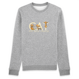 Felpa unisex Organic - CAT - Sweat-shirt - Rise - Stanley - DTG - T-Pop - AnimalStories.shop