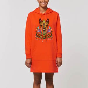 Felpa lunga Organica - Indian Lama - Hoodie - Streeter - Stanley - DTG - T-Pop - AnimalStories.shop