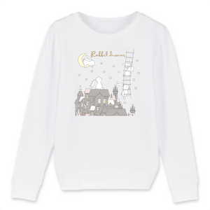 Felpa Kid Organic - Rabbit Dreams - Child Sweat-shirt Mini Changer - Stanley/Stella - DTG - T-Pop - AnimalStories.shop