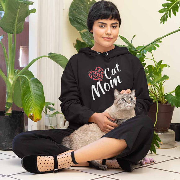 Felpa donna con cappuccio Organic - Cat Mom - Hoodie - CRUISER - Stanley - DTG - T-Pop - AnimalStories.shop