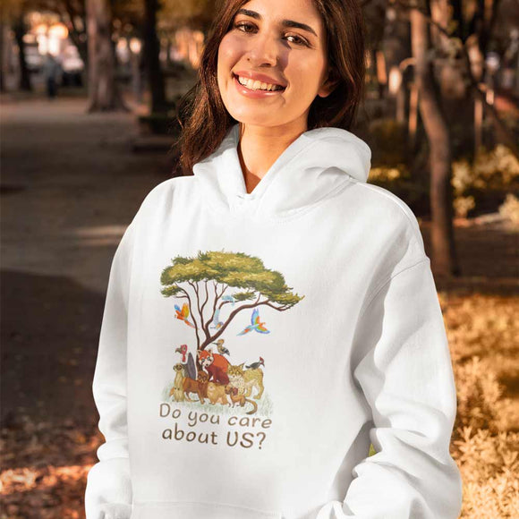 Felpa donna con cappuccio Organic - Do you care - Hoodie - CRUISER - Stanley - DTG - T-Pop - AnimalStories.shop