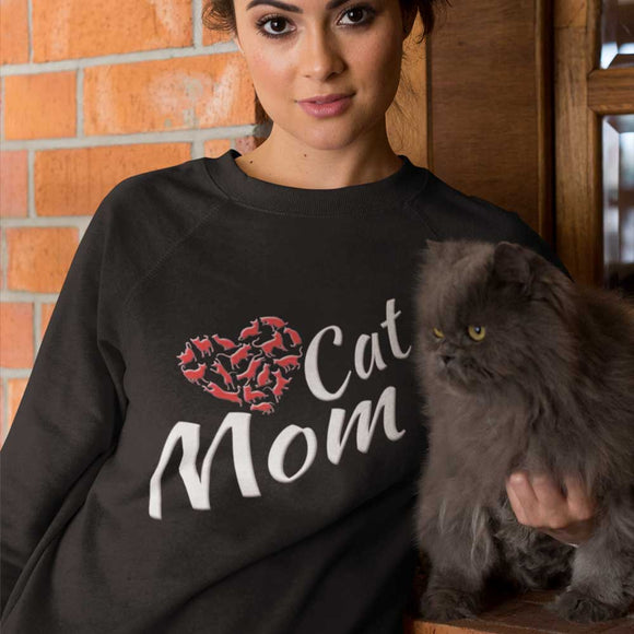 Felpa donna Organic - Cat mom - Sweat-shirt - Rise - Stanley - DTG - T-Pop - AnimalStories.shop