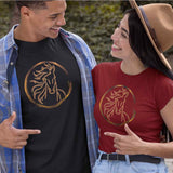T-Shirt unisex Organic - Round Horse - AnimalStories.shop