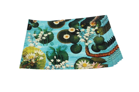 Canvas Placemat (Lotus Pond Light Aqua)