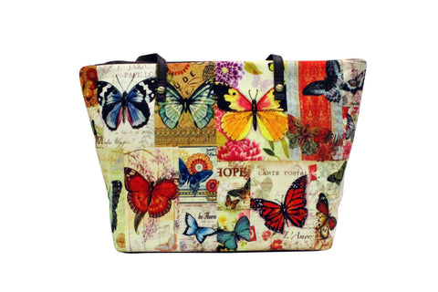 College Shopper (Butterfly Print)