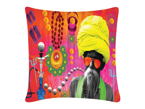 Cushion Cover, Square (Baba Print)