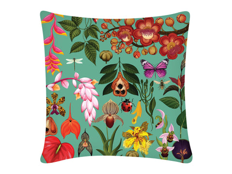 Cushion Cover, Square (Botanical - Aqua)
