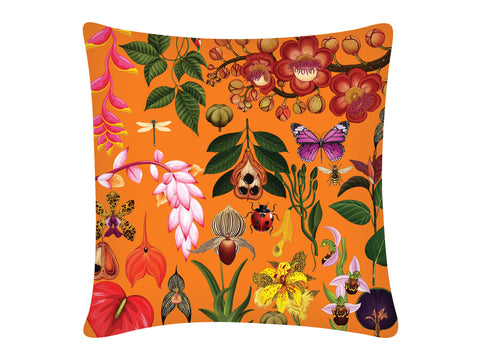 Cushion Cover, Square (Botanical - Orange)
