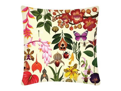 Cushion Cover, Square (Botanical - White)