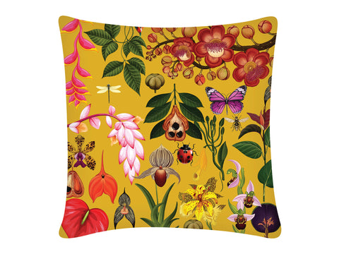 Cushion Cover, Square (Botanical - Yellow)