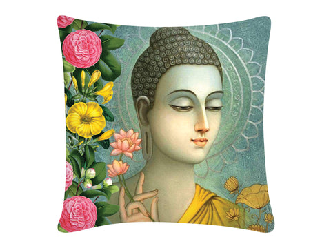 Cushion Cover, Square (Buddha - Aqua)