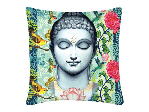 Cushion Cover, Square (Buddha - Blue)