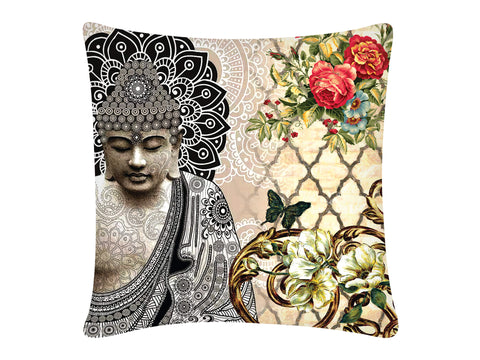 Cushion Cover, Square (Buddha Ornate)
