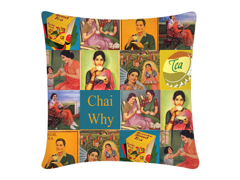 Cushion Cover, Square (Chai Why)
