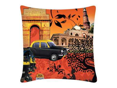 Cushion Cover, Square (Delhi Print)
