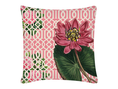 Cushion Cover, Square (Jaali Lotus-Pink)