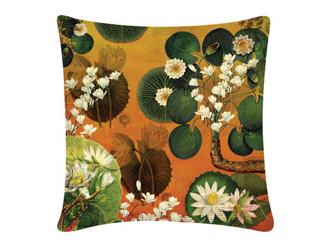 Cushion Cover, Square (Lotus Pond - Orange)