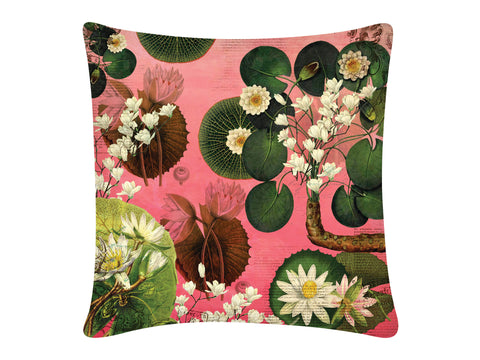 Cushion Cover, Square (Lotus Pond - Pink)
