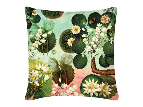 Cushion Cover, Square (Lotus Pond - Shaded)