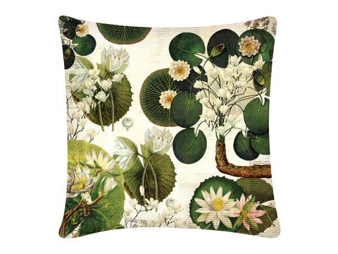 Cushion Cover, Square (Lotus Pond - White)