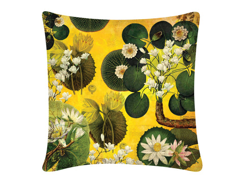 Cushion Cover, Square (Lotus Pond - Yellow)
