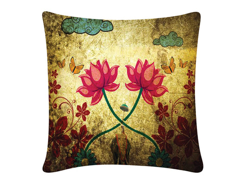 Cushion Cover, Square (Dual Lotus)