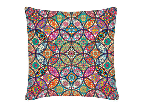 Cushion Cover, Square (Mandala Bangles)