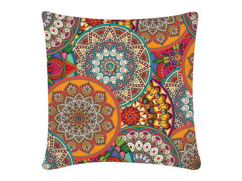 Cushion Cover, Square (Mandala Orange)