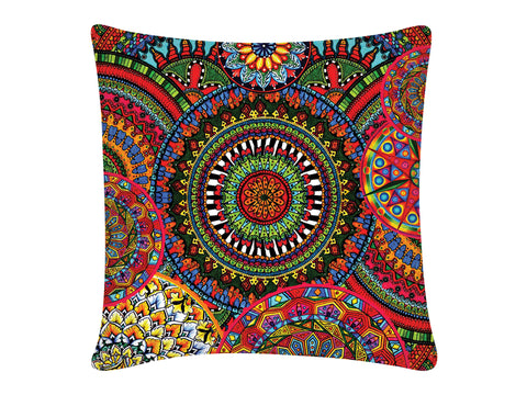 Cushion Cover, Square (Mandala Pink)