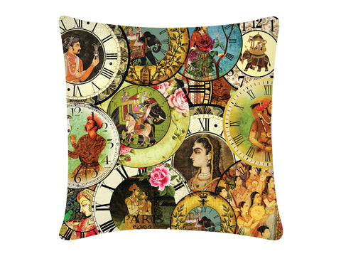 Cushion Cover, Square (Mughal Clock)