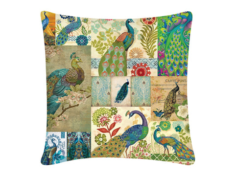 Cushion Cover, Square (Peacock)