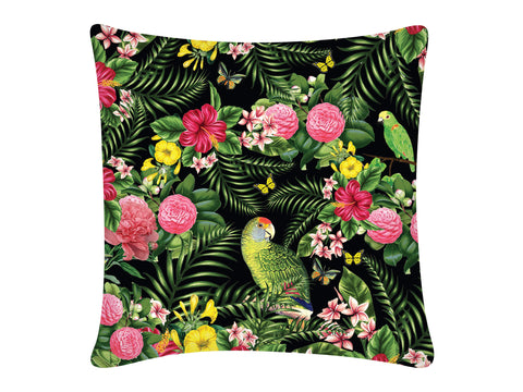 Cushion Cover, Square (Parrot - Black)