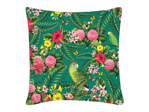 Cushion Cover, Square (Parrot - Green)