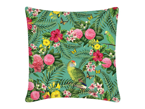 Cushion Cover, Square (Parrot - Light Aqua)