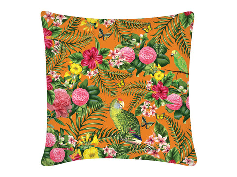 Cushion Cover, Square (Parrot - Orange)