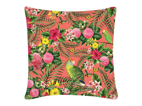 Cushion Cover, Square (Parrot - Peach)