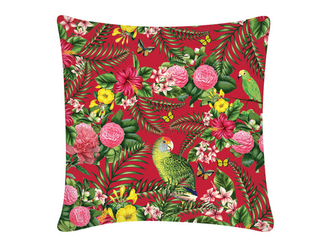 Cushion Cover, Square (Parrot - Red)