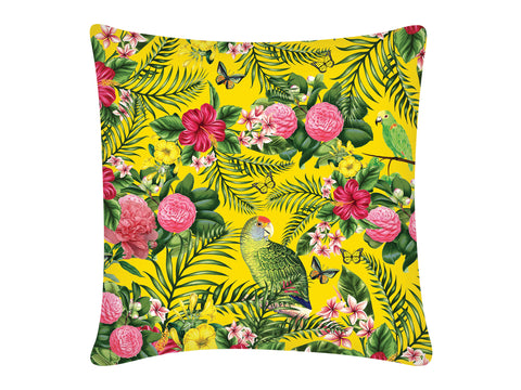 Cushion Cover, Square (Parrot - Yellow)